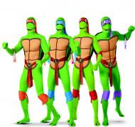 Disfarce de grupo tartarugas Ninja™ segunda pele adulto