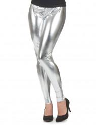 Legging prateado mulher