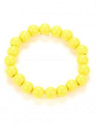 Pulseira pérolas amarelas adulto