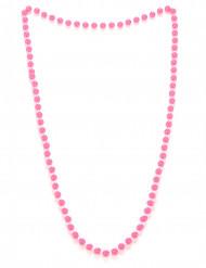 Colar de pérolas cor-de-rosa adulto