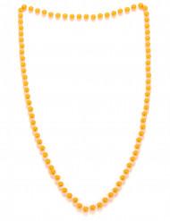 Colar pérolas cor de laranja adulto