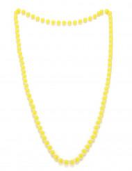 Colar pérolas amarelas adulto