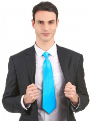 Gravata azul fluo adulto