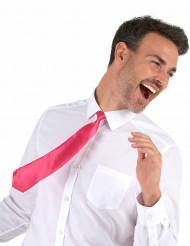 Gravata rosa fluorescente - adulto