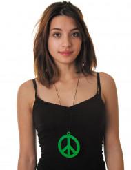 Colar peace verde fluo adulto