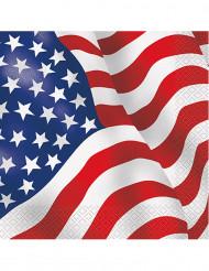 16 Guardanapos de papel bandeira USA