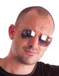Óculos aviador cor de laranja fluo adulto