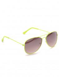Óculos aviador amarelos fluo adulto