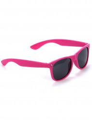 Oculos rosa fluorescente - adulto