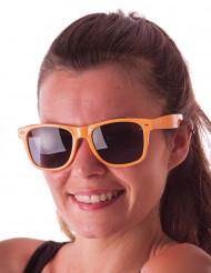 Óculos blues cor de laranja fluo adulto