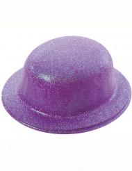 Chapéu de côco brilhante lilás adulto