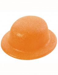 Chapéu de côco brilhante cor de laranja adulto