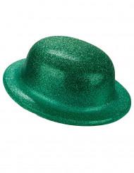 Chapéu coco verde brilhante adulto