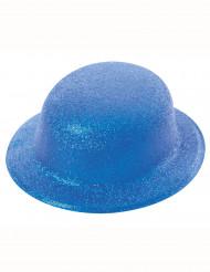 Chapéu coco azul brilhante adulto