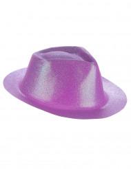 Chapéu brilhante lilás adulto
