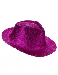 Chapéu brilhante cor-de-rosa fluo adulto