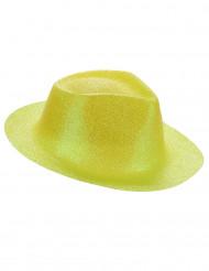Chapéu brilhante amarelo fluo adulto