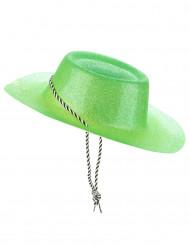 Chapéu cowgirl verde com brilhantes mulher