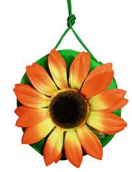 Mala hippie verde com flor