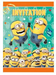 8 convites para aniversário Minions™