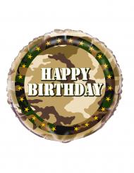 Balão alumínio militar Happy Birthday 45 cm