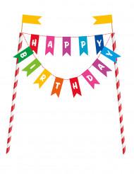 Decoração para bolo Happy Birthday