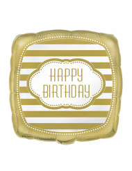 Balão alumínio dourado 45 cm