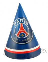 6 Chapéus de festa em cartão PSG™ 16 cm