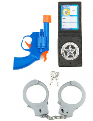 KIt polícia em plástico para criança