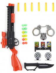 Kit militar em plástico para criança