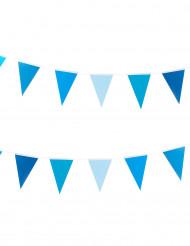 Grinalda bandeirolas azuis