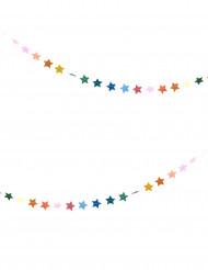 Grinalda estrelas coloridas