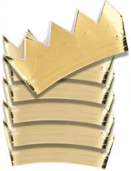 6 Coroas de cartão dourado