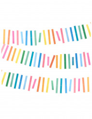 Grinalda de papel colorida 3 m