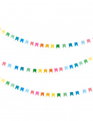 Grinalda mini bandeirolas coloridas 2 m
