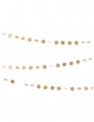 Grinalda mini estrelas douradas 3 m
