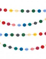 Grinalda mini bolas coloridas 3 m