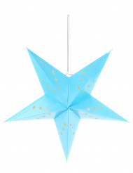 Lanterna estrela azul 60 cm