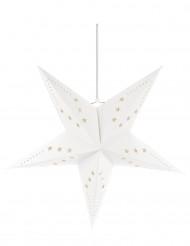 Estrela branca para pendurar 60 cm