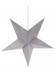 Lanterna estrela cinzenta 60 cm