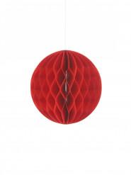 Pequena bola de papel vermelho 10 cm