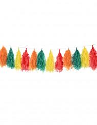 Grinalda pompons coloridos
