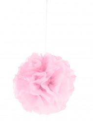 Pompom para pendurar de papel cor-de-rosa 25 cm