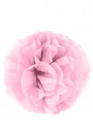 Pompom para pendurar de papel cor-de-rosa 35 cm