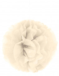 Pompom para pendurar de papel bege 35 cm