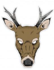 Máscara de cartão rena
