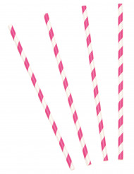10 Palhinhas às riscas cor-de-rosa