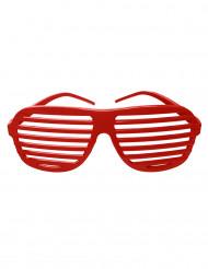 Óculos as riscas vermelhas