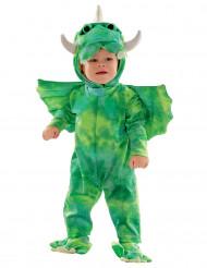 Disfarce combinação dinossauro verde bebé