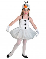 Disfarce boneco de neve menina